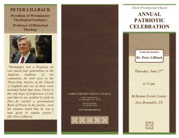annual patriotic celebration 2013 - Christ Presbyterian Church