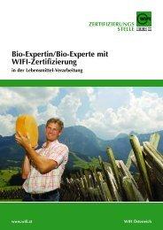 Bio-Expertin/Bio-Experte mit Wifi-Zertifizierung