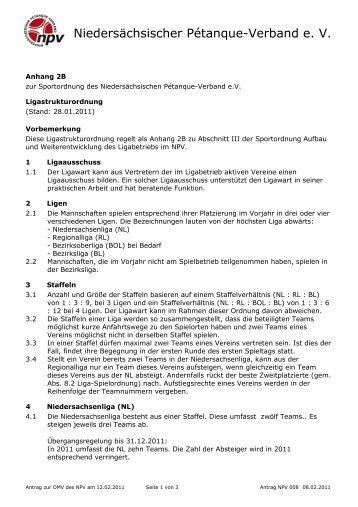 OMV 2011 NPV 008 A1 Sportordnung Anhang2B ... - Planetboule
