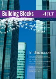 Real Estate Newsletter Building Blocks October 2011 - JLT