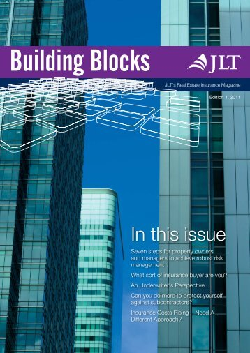 Real Estate Newsletter Building Blocks October 2011 - JLT