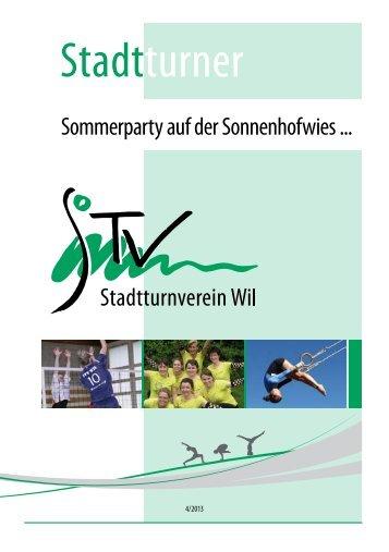 Sommerparty auf der Sonnenhofwies ... - StadtTurnVerein Wil