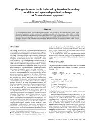 Changes in water table induced by transient boundary condition and ...