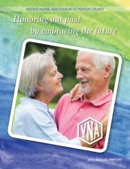 2012 Annual Report - the Visiting Nurse Association of Porter County