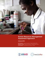 Human Resources Management Assessment ... - CapacityPlus