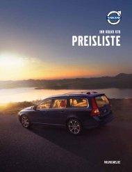 Preisliste Volvo V70 - Schwabengarage AG