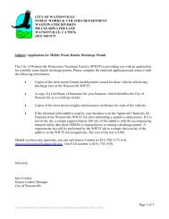 Mobile Waste Hauler Discharge Permit - City of Watsonville