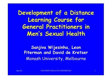 Development of a Distance Learning Course for General ...