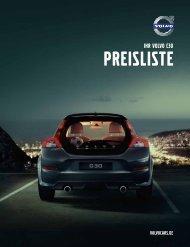 Volvo C30 - Preisliste - Schwabengarage AG