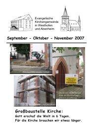 September – Oktober – November 2007 - Evangelische ...