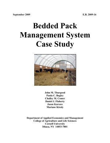 Bedded Pack Management System Case Study - Department of ...