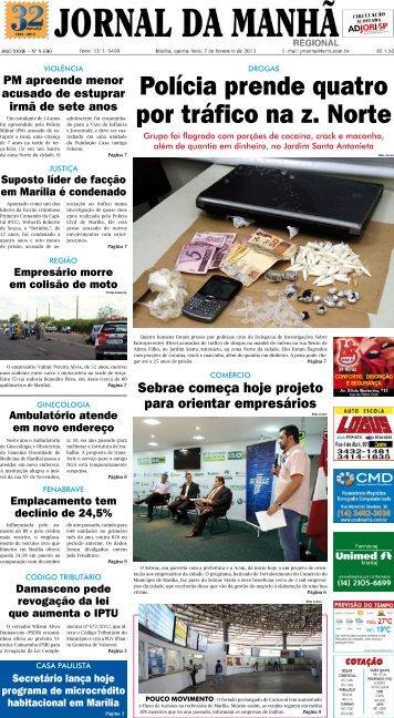 Polícia prende quatro por tráfico na z. Norte - Jornal da Manhã