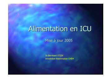 Alimentation en ICU