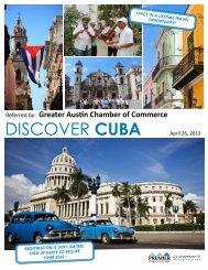 DISCOVER CUBA - The Greater Austin Chamber of Commerce