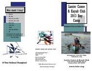 Lanier Canoe & Kayak Club 2013 Day Camp - Lanier Canoe and ...