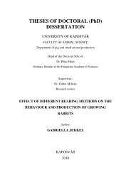 THESES OF DOCTORAL (PhD) DISSERTATION