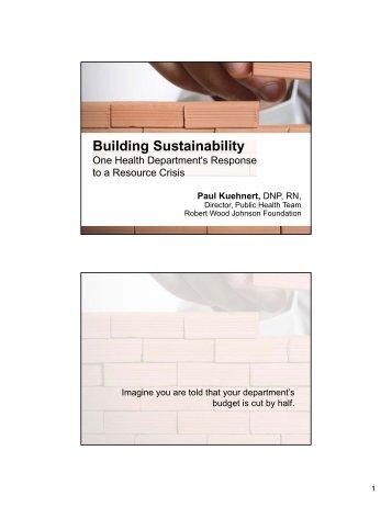 slide handout (2 slides per page) - Northwest Center for Public ...
