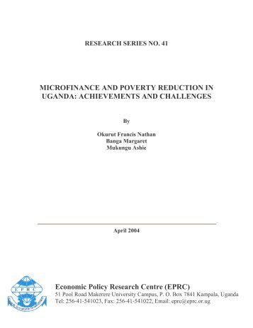MICROFINANCE AND POVERTY REDUCTION IN UGANDA ...