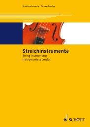 Streichinstrumente - Schott Music