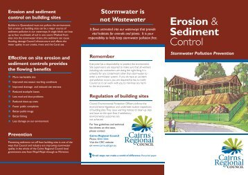 Erosion & Sediment Control - Cairns Regional Council