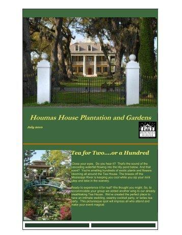 Tea for Two....or a Hundred - Houmas House Plantation and Gardens