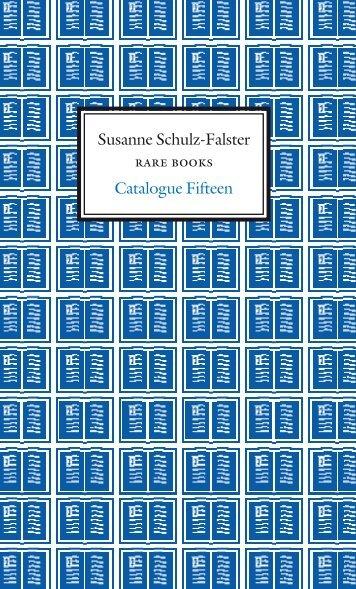 Susanne Schulz-Falster Catalogue Fifteen