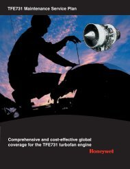 TFE731 Maintenance Service Plan Comprehensive and ... - Honeywell