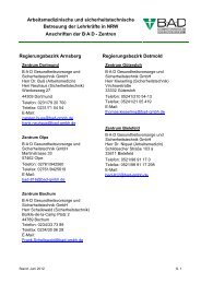 Arbeitsmedizinische und sicherheitstechnische Betreuung der ...