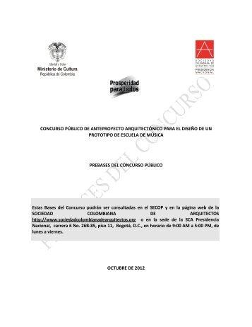 Bases definitivas tenjo sociedad colombiana de arquitectos - Sociedad de arquitectos ...