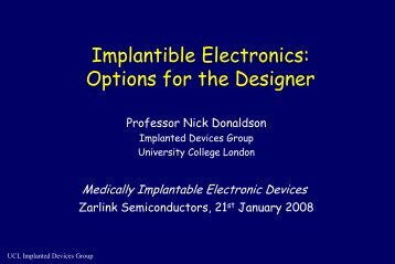 Implant Technology - Electronics Technology Network