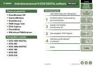Instruktionsmanual til EOS DIGITAL-software