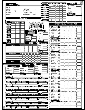 Rpg pdf anima