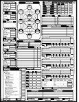 Anima Character Sheet PDF - Fantasy Flight Games - Page 2