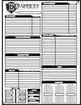 Anima Character Sheet PDF - Fantasy Flight Games - Page 3