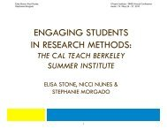 engaging students in research methods - The UTeach Institute