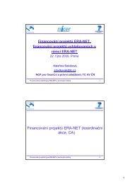 Financování projektů ERA-NET (koordinační akce, CA) - 7. RP