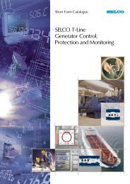 SELCO T-Line Generator Control, Protection and Monitoring - DSF ...