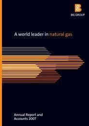 2007 Annual Report PDF - BG Group