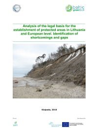 Analysis of the legal basis for the establishment of protected areas in ...
