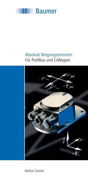Absolute Neigungssensoren. Für Profibus und CANopen. - Baumer