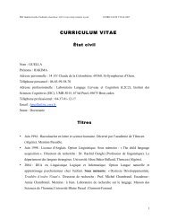 CURRICULUM VITAE - L2C2 - CNRS