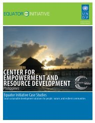 center for empowerment and resource development - Equator Initiative