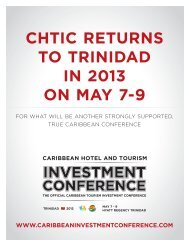 CHTIC reTurns To TrInIdad In 2013 on May 7-9 - Caribbean Hotel ...
