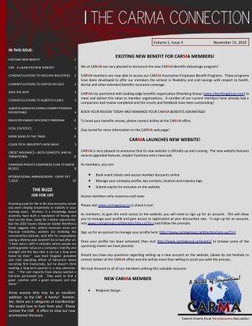 November 2010 - Central Alberta Rural Manufacturers Association