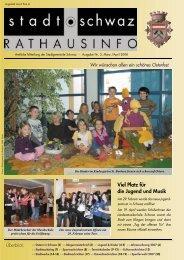 Rathausinfo Ausgabe April 2008 - Schwaz
