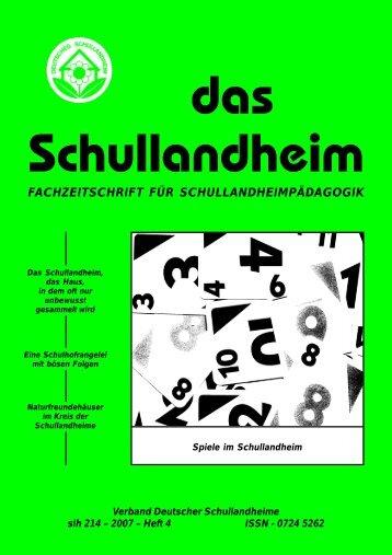 2007 – Heft 4 ISSN - Verband Deutscher Schullandheime eV