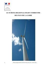 Le schéma régional éolien terrestre (SRE) - DREAL des Pays de la ...