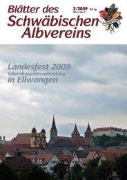 Blätter des Schwäbischen Albvereins 2/2009 - Schwaben-Kultur