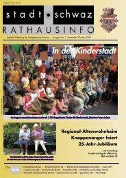 Rathausinfo Ausgabe September 2008 - Schwaz