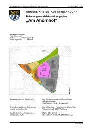 """und Grünordnungsplan """"Am Ahornhof"""" - Stadt Schwandorf"""